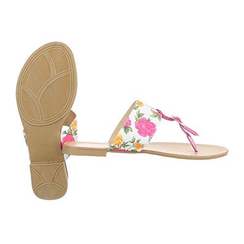 Ital-Design - Zapatos con tacón Mujer Blanco Rosa