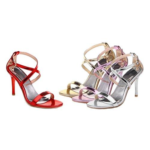 Sjjh Le Splendente Feste Dimensioni Donna Per Sandali Materail Dell'ufficio Con Di Disponibili Matrimonio Stiletto Donne Grandi wTwFrqOg
