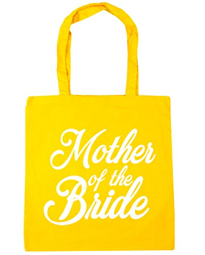 HippoWarehouse Mother of the Bride Tote Shopping Gym Beach Bag 42cm x38cm, 10 litres Yellow