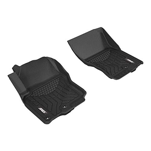 ARIES NS06111809 StyleGuard XD Black Custom Truck Floor Liners for Nissan Frontier, 1st Row Only