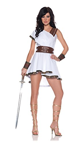 Underwraps Women's Sexy Gladiator Costume-Olympia, White, Extra Large]()