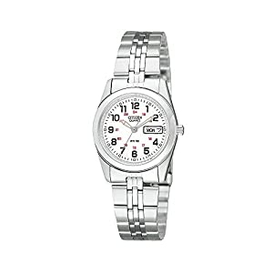 CitizenWomen's Stainless Steel Railroad-Approved Watch With White Dial