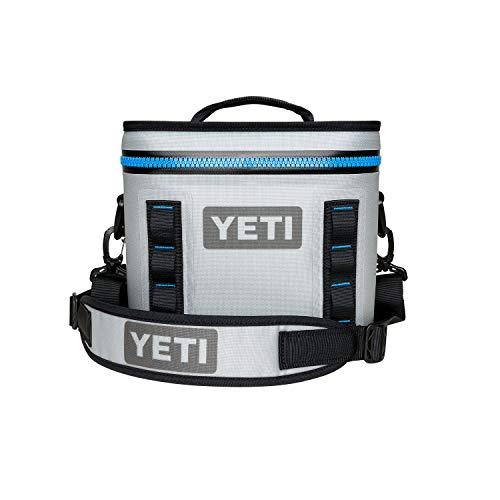 YETI Hopper Flip 8 Portable Cooler, Fog Gray/Tahoe Blue (Best Large Cooler For The Money)