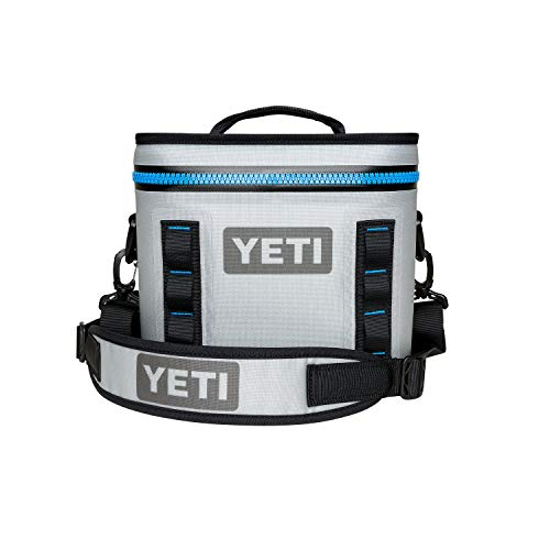 YETI Hopper Flip 8 Portable Cooler, Fog Gray/Tahoe Blue (Best Soft Cooler On The Market)