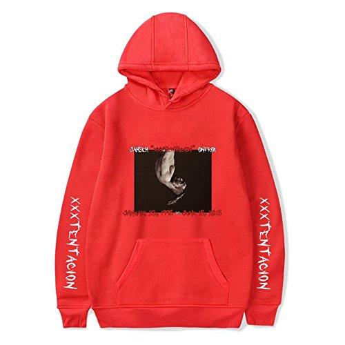 Manches Hip À Longues Red Sweatshirt Xxxtentacion shirt Streetwear Sweaters Unisexe Sweat Rapper Capuche Rip Hop qfxCwvT