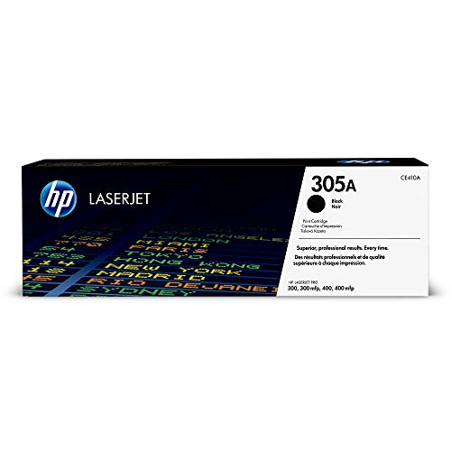 (HP 305A (CE410A) Black Original Toner Cartridge for HP LaserJet Pro 400 Color MFP M451nw M451dn M451dw, Pro 300 Color MFP)