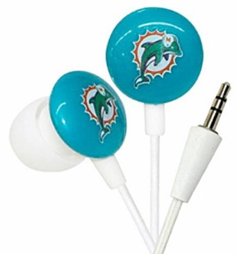 Miami Dolphins NFL Ihip Earbud Earphones Works With MP3 ipods iphones