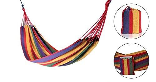 Hamaca Doble de Jard/ín Arco Iris Rayas Multicolores