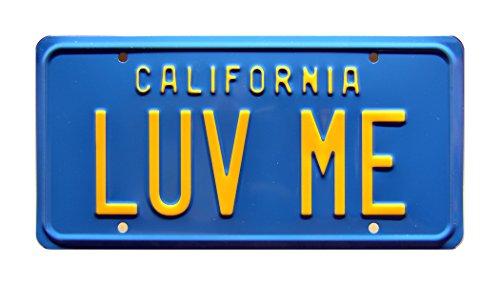 National Lampoon's Vacation / Christie Brinkley's Ferarri 308GTSi / LUV ME *METAL STAMPED* Vanity Prop License - Yellow Ferarri