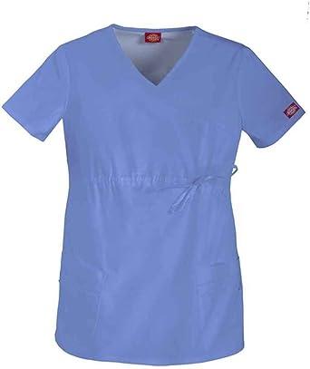 7566eec0988 Amazon.com: Dickies Gen Flex Maternity Mock Wrap Scrub Top: Clothing