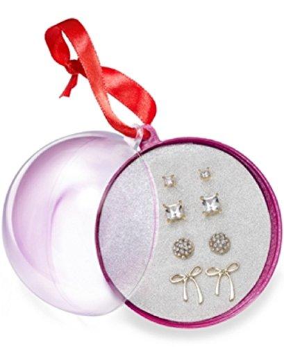 - Robert Rose Gold Bow & Stud Earrings - 4 Pair