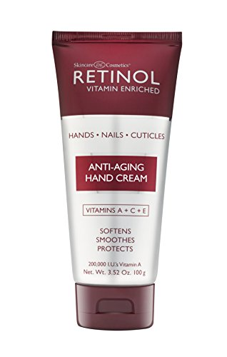 Retinol Anti-Aging Hand Cream - The Original Retinol Brand For Younger Looking Hands -Rich, Velvety Hand Cream Conditions & Protects Skin, Nails & Cuticles - Vitamin A Minimizes Age's Effect on Skin (Anti Cream Aging Hand Retinol)