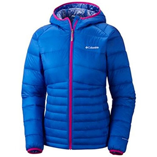 Columbia Women`s Diamond 890 Turbodown Hooded Jacket, M, BLUE MACAW
