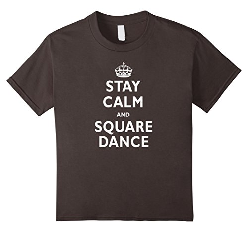 [Kids Stay Calm and Square Dance Funny T-Shirt 10 Asphalt] (Child Square Dance Costume)