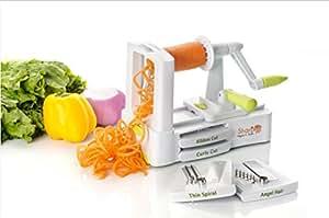 5 Blade Vegetable Spiralizer -NEW GENERATION - with Suction Cup (Voir description pour les détails en français)