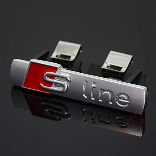 Matt Silver 69mm x 14mm S Line Front Grill Bonnet Badge Embl/ème Pour A1 A2 A3 A4 A5 A6 A8 TT S3 S4 S4 S5 S6 S7 S8