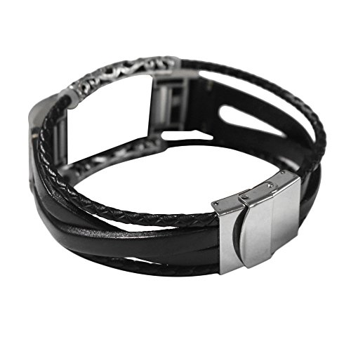 Christmas Hot Sale!!Kacowpper Replacement Leather Wristband Band Strap Bracelet for Fitbit Charge 2