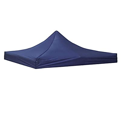 Yescom 10' x 10' EZ Pop Up Canopy Top Replacement Instant Patio Pavilion Gazebo Sunshade Tent Oxford Cover Navy : Garden & Outdoor