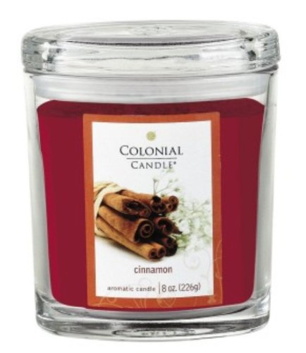 Colonial Candle Cinnamon Oval Jar Candle 8 Oz.