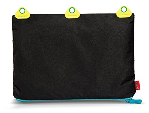 ZIPIT Rivets 3-Ring Pencil Case, Black