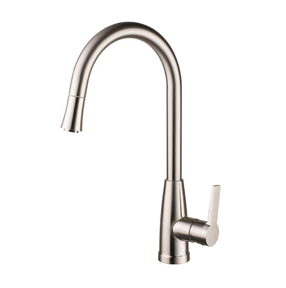 Swivel Body Kitchen Sink Mixer Taps, Brass Fitting Single Lever Faucet,Hot and Cold Kitchen Taps Convenient and durable
