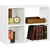 24.8 Manufactured Wood Bookcase Storage Shelf in White Finish