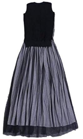 【クリックで詳細表示】(エムズオム)M, s homme パーティー ドレス ロング マキシワンピ レディース ノースリーブ ブラック