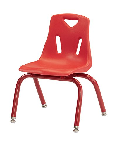 Berries 8118JC6008 Stacking Chairs with Powder-Coated Legs, 8