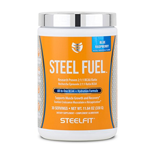 Cheap SteelFit, Steel Fuel All-In-One BCAA + Hydration Formula, Blue Raspberry, 30 Servings