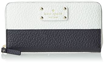 kate spade new york Grove Court Lacey Wallet,Fresh White/Midnight,One Size