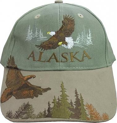 (New Alaska Bull Soaring Eagle Fly Ball Cap Hat Deluxe )