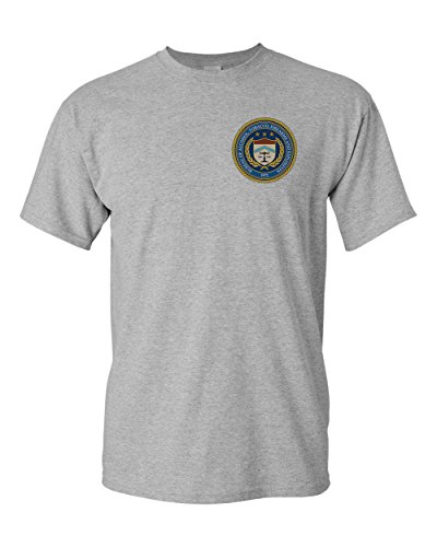 ATF Bureau of Alcohol, Tobacco, Firearms and Explosives Seal Sport Grey T-Shirt (Sport Grey, - Atf Seal