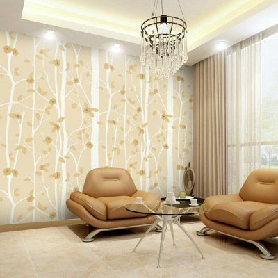 Cunguang 3D Moderne Tapeten Home Decor Flower Wallpaper Zweig Baum Schwarz  Weiß Non Woven Wand Papierrolle
