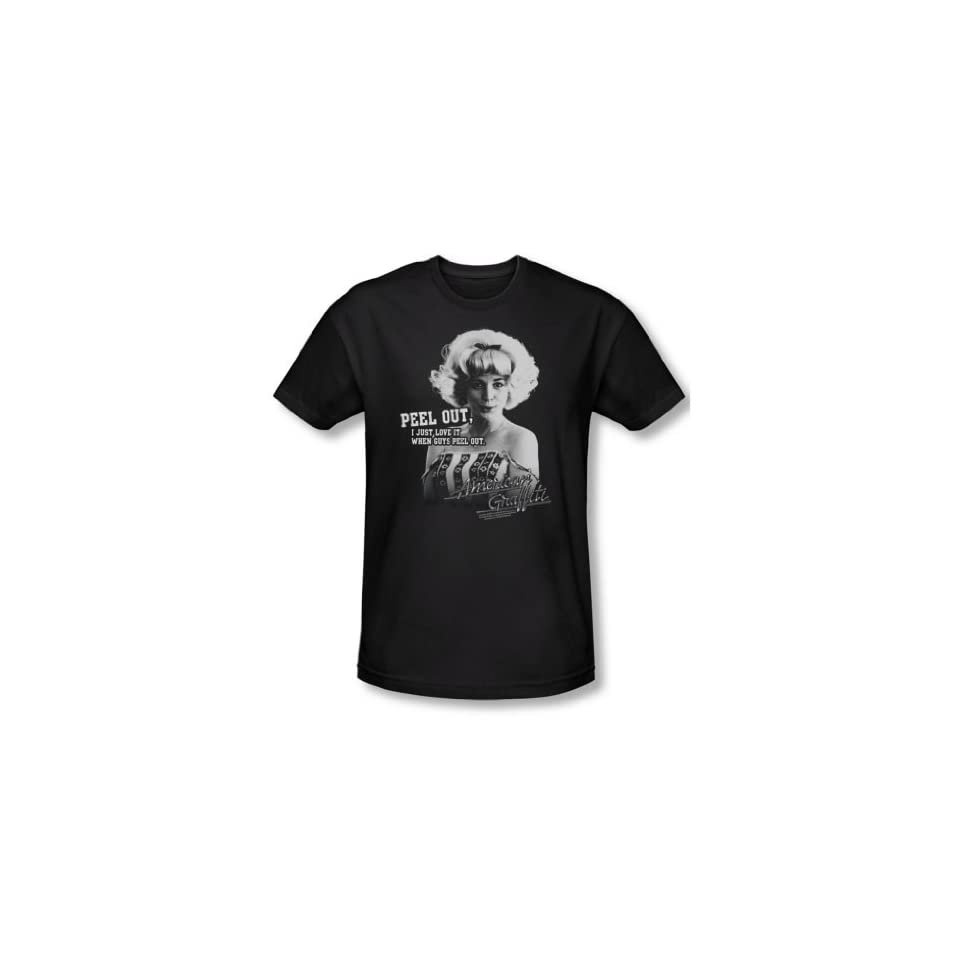 American Graffiti   Mens Peel Out T Shirt In Black Clothing