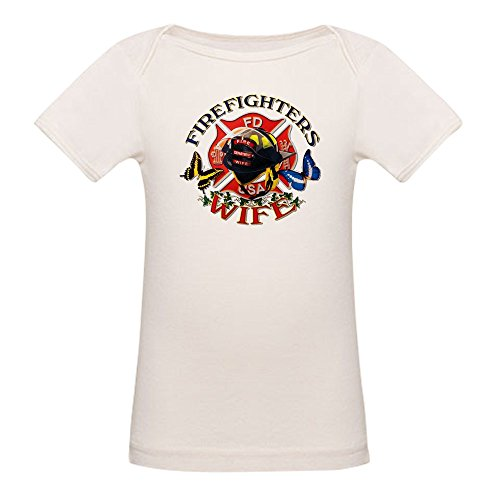 - Royal Lion Organic Baby T-Shirt Firefighters Wife Butterflies - 6 to 12 Months