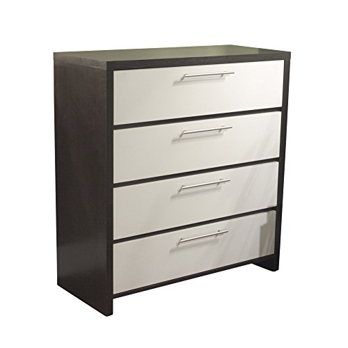 Cheap  Target Marketing Systems Two-Toned Contemporary Drawer Chest with 4 Drawers, Espresso/White