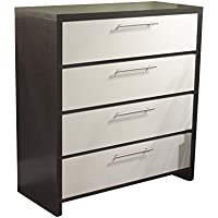 Target Marketing Systems Two-Toned Contemporary Drawer Chest with 4 Drawers, Espresso/White