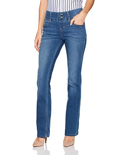 Riders by Lee Indigo Women's Pull on Waist Smoother Bootcut Jean, Mid Shade, 14A