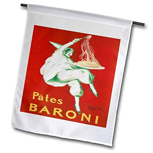 (3dRose fl_149299_1 Vintage Pates Baroni Pasta Advertising Poster Garden Flag, 12 by 18-Inch)