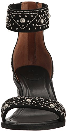Frye Dames Brielle Deco Back Zip Jurk Sandaal Zwart