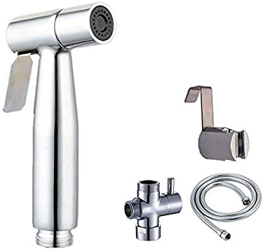 Haolide Hand Held Bidet Sprayer Kit Stainless Steel Sprayer 2 Modes Cloth Washing Diaper Cleaning Shower Head With Wall Bracket Amazon Ca Tools Home Improvement
