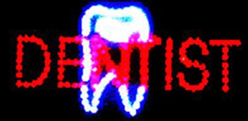 "LED Neon Light Open Dentist Sign for Business By""E Onsale"" (Dentist B07)"