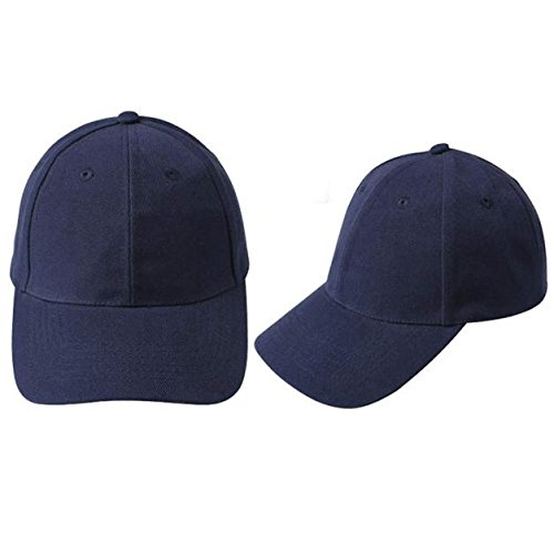 Quaanti Clearance Price!Unisex Baseball Cap Outdoor Sports Blank Hat Solid Color Adjustable Hat  (Navy)