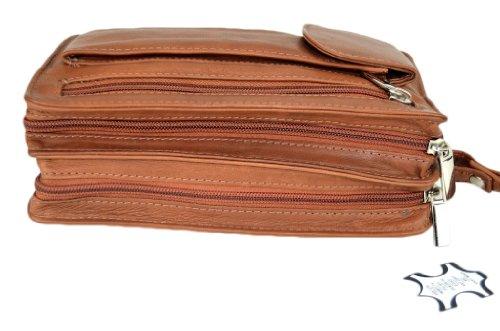Bag Street - Bolso de asas de cuero para hombre marrón