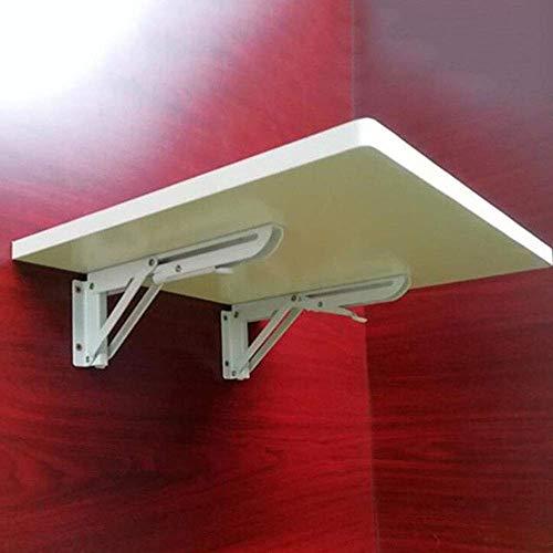 NBLYW fällbart bord för väggmontering, 25 kg bärkraft, lång utlösningsarm, flytande bord, platsbesparande hängande bord för arbetsrum, sovrum, badrum eller balkong