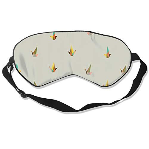 All agree Sleep Mask Origami Pattern Eye Mask Patch with Adjustable Strap Eyemask for Travel, Nap, Meditation, Blindfold]()