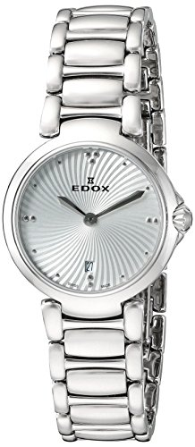 Edox Women's 57002 3M AIN LaPassion Analog Display Swiss Quartz Silver Watch