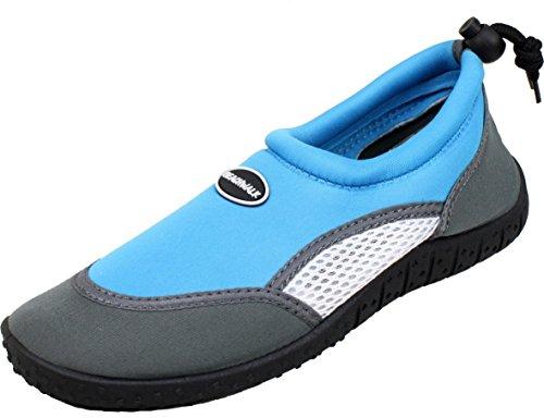 Calzado de agua para niño Bockstiegel de neopreno, modelo Juist-1 azul claro