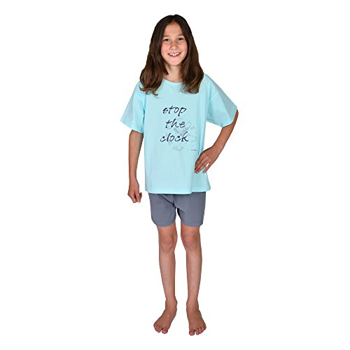 6f0d443668 Mauz by Wörner Wörner Mädchen Schlafanzug lang kurz Shorty Sleepshirt  Bademantel Stop The Clock Mint Jersey Frottee Schlafanzüge: Amazon.de:  Bekleidung