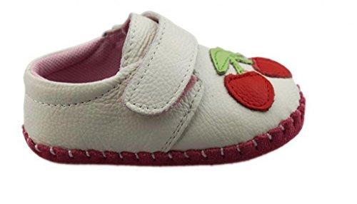 V-SOL Zapatillas Zapatos Primeros Pasos De Cuero Para Bebé Niño Niña Antideslizante Con Velcro Modelo E